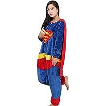4be53a6189 Cool&D Pyjama Schlafanzug Onesie Jumpsuits Hausanzug Flanell Kostüme mit  Schuhe für Herren ...