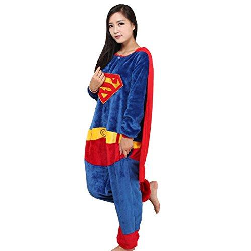 Mit Flanell Kostüm - Cool&D Pyjama Schlafanzug Onesie Jumpsuits Hausanzug Flanell Kostüme mit Schuhe für Herren Damen Kinder