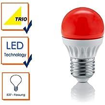 Trio 986-10 - Bombilla E27 LED, 4 W, cristal rojo IP20