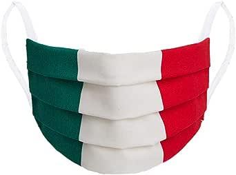 Mascherina Italia con tasca per filtro100% cotone made in Italy