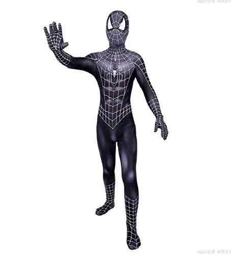 Muskel Schwarzer Spider Mann Kostüm - SPIDER Erwachsene Kinder 2019 Halloween Kostüm Overall 3D Print Spandex Lycra Spiderman - Cosplay Body,Adult-XXL
