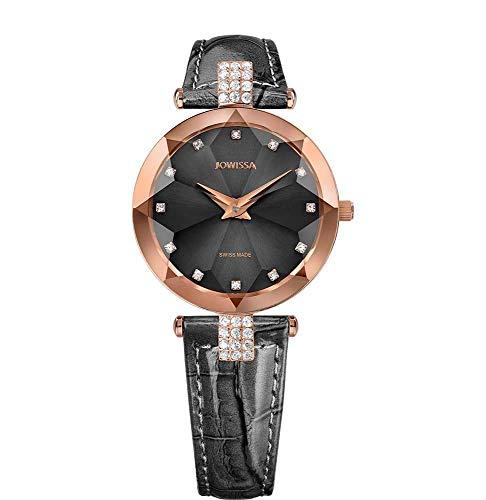 Jowissa Facet Strass Swiss J5.627.M - Reloj de Pulsera para Mujer, Color Gris y Rosa