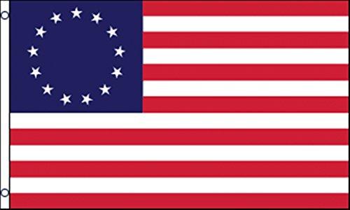 Betsy Ross Union 13STARS 1776Flagge 5'x3' (150cm x 90cm) schwere Pflicht Nylon -
