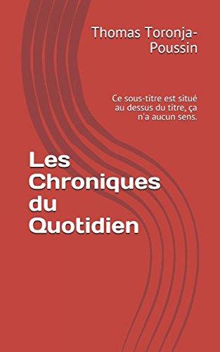 Chroniques Du Sens [Pdf/ePub] eBook