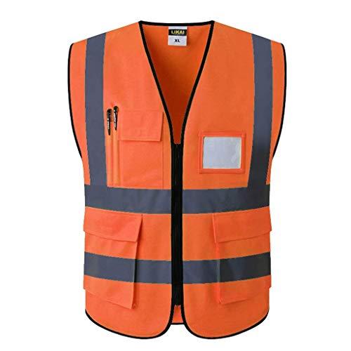 Warnweste Sicherheits-Warnweste Pocket Night Running Schutzkleidung (Farbe: Rot, Größe: L) (Uniform Sicherheits-roter)