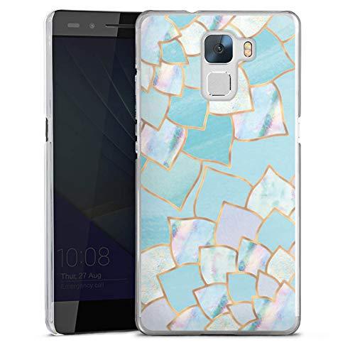 DeinDesign Huawei Honor 7 Premium Hülle Case Handyhülle Fischschuppen Muster Meerjungfrau