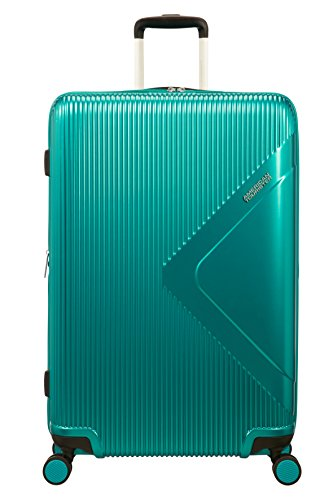 American Tourister Modern Dream Spinner Espandibile Valigia, 77.5 cm, 114 L, Green (Emerald Green)