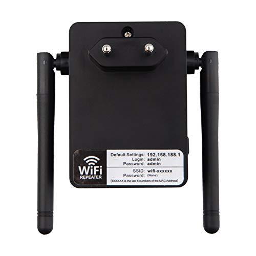 LYXLQ WLAN-Signalreichweite, 300-M-Relais-Router-Signal-Extender, verbunden mit Einer Übertragungsrate von bis zu 300 Mbit/s. Adapterunterstützung WPA/WPA-PSK / WPA2 / WPA2-PSK,Black -