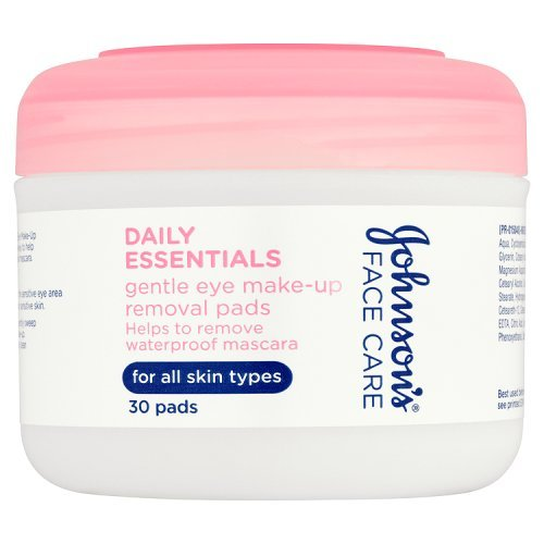Johnson's Daily Essentials Gentle Eye Make-up Removal Pads - 30 Pads