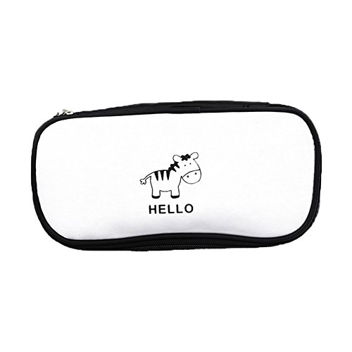 Einfach Zebra (Mäppchen Schule Federmappe Schüleretui Vintage Casual Chic Jungen Mäppchen Pencil Case Zebra Tier Federmäppchen Schwarz Und Einfache Federtasche Student Schreibwaren Tasche)