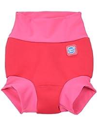 Splash About Chica Nueva y Mejorada Happy Nappy, Niña, Neue und verbesserte Happy Nappy, Pink Geranium, Extra-Large