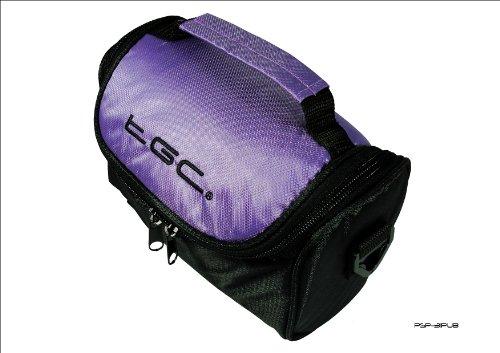 Electric Purple & schwarz Travel Tasche für Garmin FishFinder echotm 300C SAT NAV GPS 300 Fishfinder