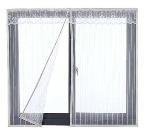 Icegrey zanzariera magnetica per porte finestre tenda zanzariera con magneti rete anti zanzare zanzariera 120x150cm bianca