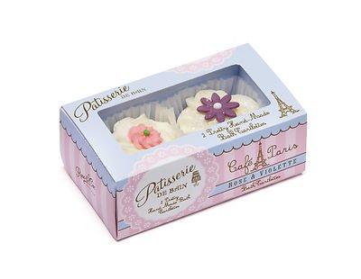 Rose And Co Patisserie De Bain Handmade Bath Tartlettes Rose & Violette 2 x 45g