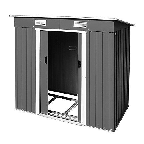 Preisvergleich Produktbild DEMA Metall Garten Gerätehaus Cardiff Anthrazit