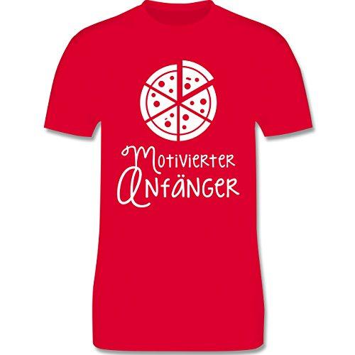 Küche - Motiverter Anfänger Pizza - Herren Premium T-Shirt Rot