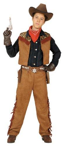 Männlich West Kostüm Wild - Widmann-WDM42776 Kostüm , Braun 128cm, WDM42776