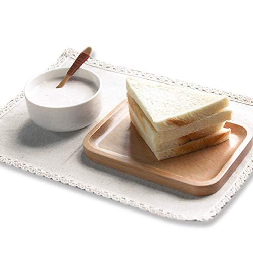 DS- Bol Ensemble de assiettes de petit-déjeuner de style japonais, une personne, ensemble de couverts de cuillère, ensemble de couverts, assiette de collations en bois massif, ensemble de petit-déjeun