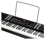 FunKey 0003812661-Son Edition Keyboard (128, 128rythmes, 10Démo de Chanson, bloc d\'alimentation, pupitre) Noir
