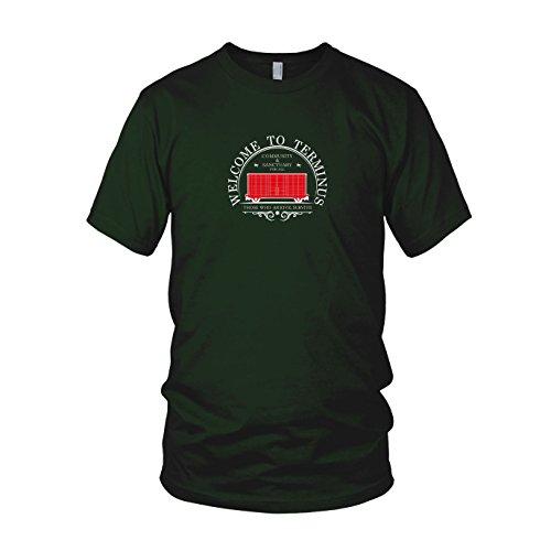 Welcome to Terminus - Herren T-Shirt Dunkelgrün