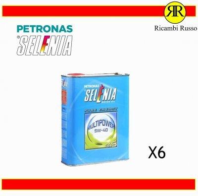 OLIO MOTORE AUTO SELENIA PETRONAS 5W40 MULTIPOWER GAS LITRI 6