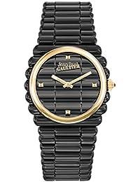 Reloj mujer JEAN PAUL GAULTIER–borde Costa–Pulsera acero PVD negro–Reloj Oro–34mm–8504105