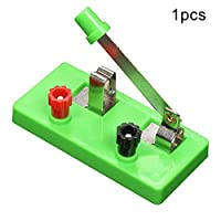 Whiie891203 School Physics Single Pole Throw Switch Laboratory Equipment Teaching Tool Education Toy for Kids Junior Senior High School Students Elementary Electronics