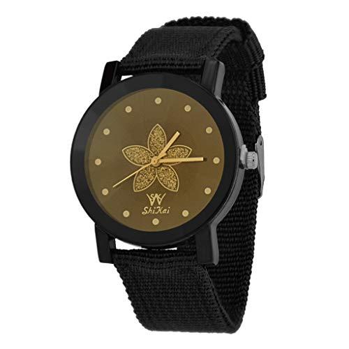 2019 Damen Armbanduhr SHIKAI Quarz Uhr Leder Gurt Kreativ Geschenk Damen Sammlung Wristwatch, Damen Armbanduhr Schwarz (Herren Kostüm Kreativ)