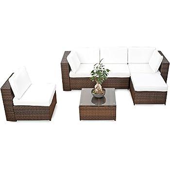 Lounge sessel polyrattan braun  Amazon.de: (1er) Polyrattan Lounge Möbel Sessel braun ...