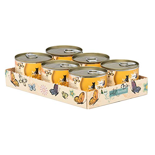 catz finefood Katzenfutter nass Bio No.507 Bio-Rind, 6er Pack (6 x 200 Grams)