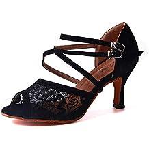 Salsa Para Salón Zapatos Vals Tango Mujer De Syrads Baile Samba Latino Agq1xqH0