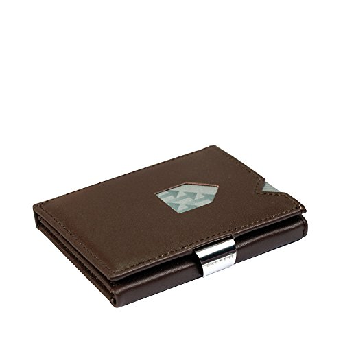 EXENTRI Wallet Kartenetui RFID 9 cm brown - Mini Tri Fold Wallet