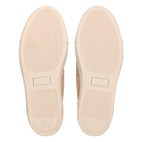 ZWEIGUT® -Hamburg- echt #403 Damen High-Top Kork Sneaker vegan Schuhe mit Canvas und recycelter Sohle, Schuhgröße:39, Farbe:sand-kork - 6