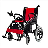 BHXUD Elektro-Rollstuhl, Faltbare Alter Roller Allrad-Leichtathletik Behinderten Intelligent Automatic Rollstuhl