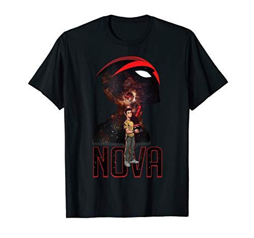 Marvel Nova Guardians of Galaxy Silhouette Graphic T-Shirt (Marvel Nova Shirt)