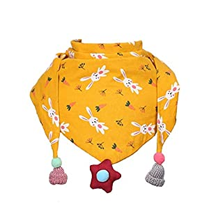 Hosaire 1X Bufanda Niña Algodón Bufandas Patrón de Conejo Impreso Caliente Suave Bebé Triángulo Pañuelos de Cuello para… 7