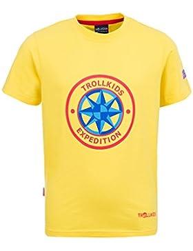 TROLLKIDS Camiseta Manga Corta Windrose T Amarillo / Rojo 16 años (176 cm)