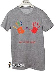 T-Shirteria - Camiseta para regalo del día del Padre, todas las tallas, modelo mejor padre gris Talla:XXL