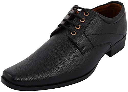 Alestino Men's Black Syn Leather Formal Shoes