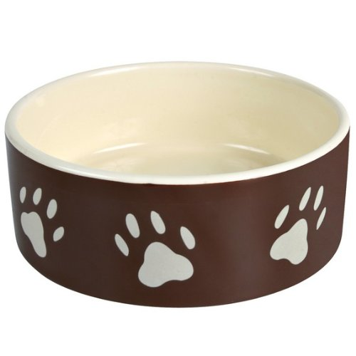 Trixie Feeder Ceramica, Footprints, Marrone / Crema 20 cm