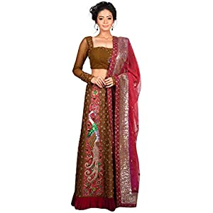 AGNIMITRA PAUL Lehenga Choli (AGNI-029_Red_42 inches)