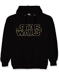 Star Wars Basic Logo-Mens-Hoodie-Black, Camisetas para Hombre