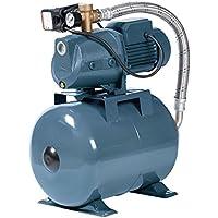 Hauswasserwerk 1500 W 4800L inkl 24 50 80 oder 100L Speicher Wasserpumpe Gartenpumpe (24 L)