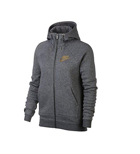 Nike Damen W Nsw Rally Hoodie FZ Metallic Kapuzenjacke, Karbon Heidekrautgrau/Cool Grau, L Preisvergleich