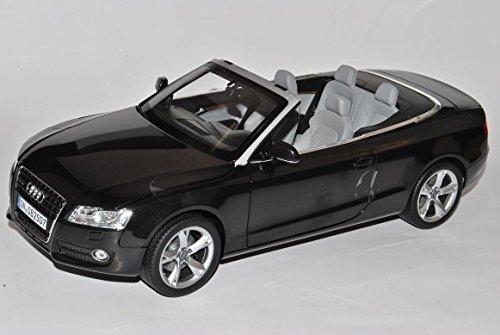 Audi A5 Cabrio Schwarz 2007-2011 Vor Facelift 1/18 Norev Modell Auto mit individiuellem Wunschkennzeichen (S5 Audi Modell)