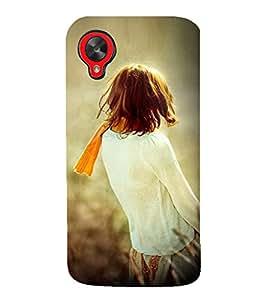 PrintVisa Designer Back Case Cover for LG Nexus 5 :: LG Google Nexus 5 :: Google Nexus 5 (Lonely Girl Standing In A Field)