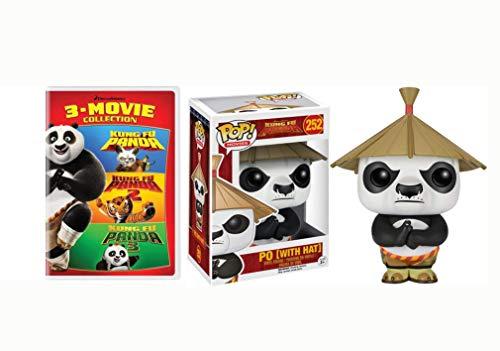 Jack Black is Back As The Kung FU Panda Dreamworks DVD + Funko Bundle: Kung Fu Panda: 3-Movie Collection + Pow W/ Hat Funko Pop #252