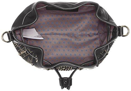 Trussardi 75bp8253, Borsa a secchiello Donna 27x32x15 cm (W x H x L) Nero