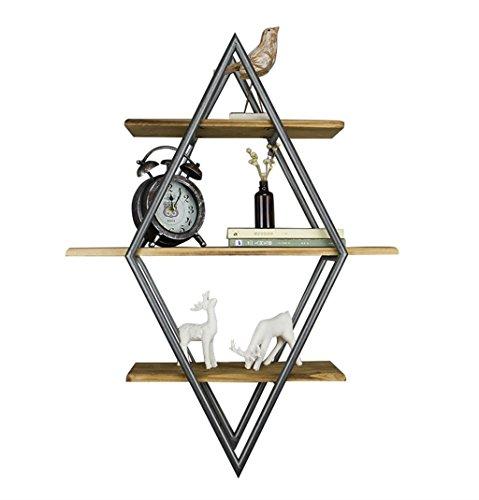 Étagère murale de 3 étagères en bois fer en métal étagère suspendue étagères flottantes étagères de cube comme étagère de stockage étagère Vintage décorations Design (taille : 60×20×80cm)