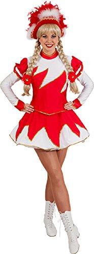 O9755-38 rot-weiß Damen Funkenkostüm Mariechenkostüm Gr.38